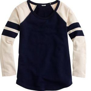 J. Crew Stripe-Sleeve Sweatshirt